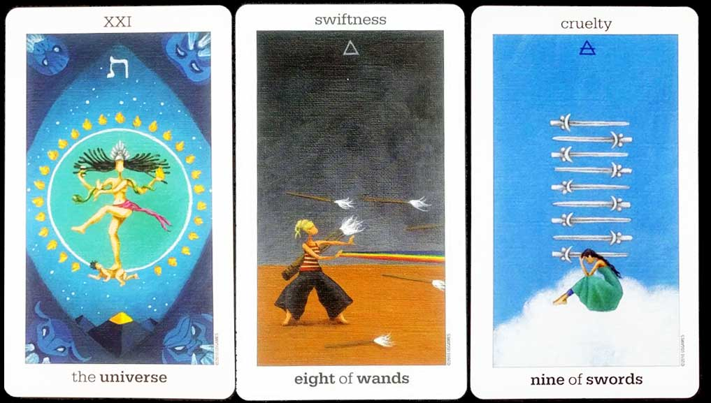 Exemple de Tirage avec le Sun and Moon Tarot