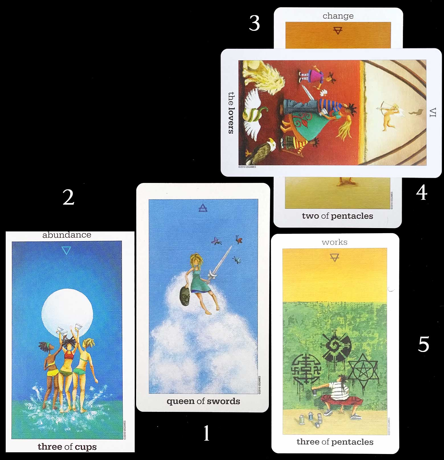 Test du Sun and Moon Tarot - Tirage 3