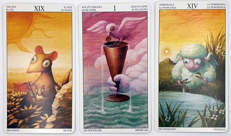 Tirage Tarot cartes droites