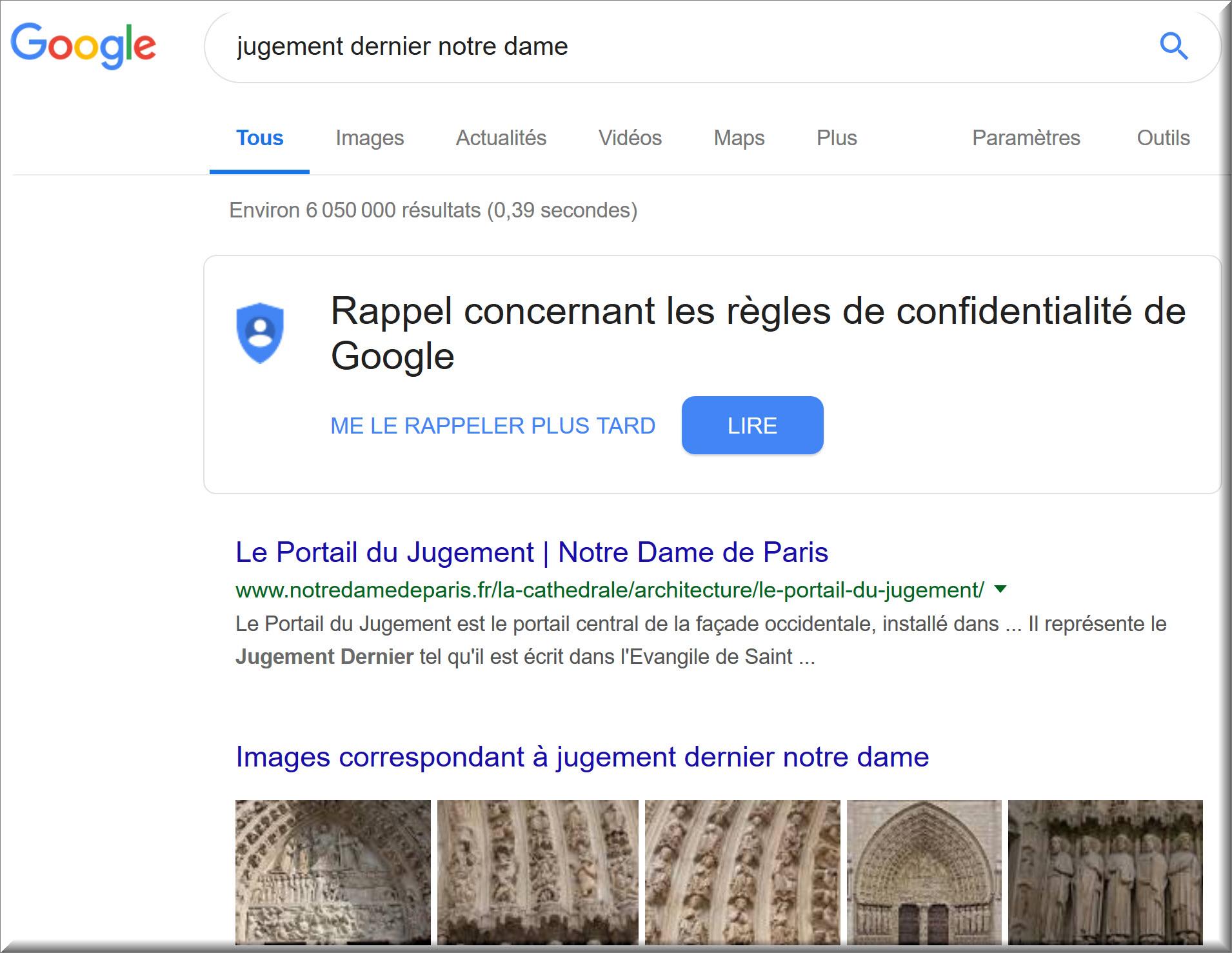 Portail de Notre-Dame | Jugement Dernier